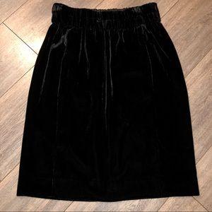 J. Crew velvet pencil skirt